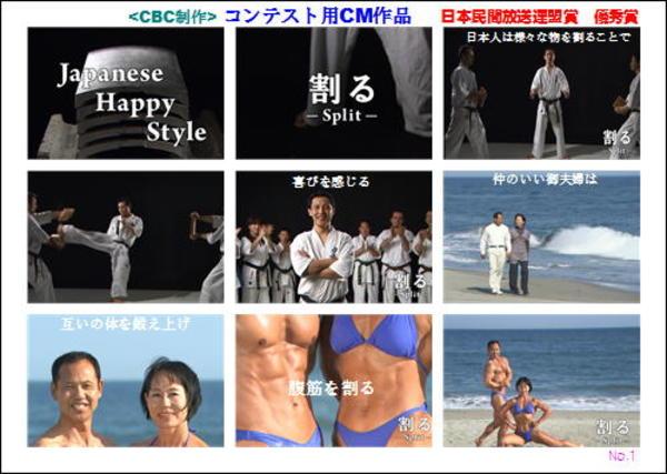 日本放送文化大賞・優秀賞CM作品(CBC)2011年9月受賞