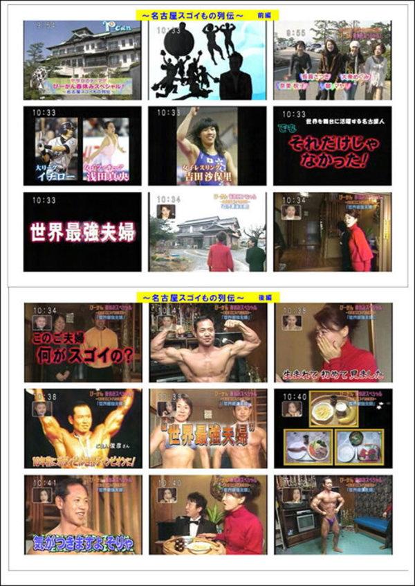 東海TV・ぴーかんテレビ「名古屋スゴイもの列伝」 2007年3月30日(金)放送のサムネイル